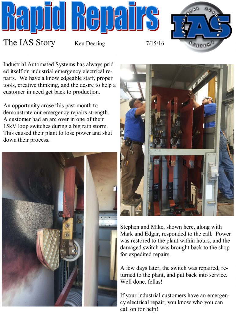Rapid Repairs - The IAS Story August 2016